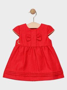 Robe en jacquard rouge lurex bébé fille  SAZOE / 19H1BFP1ROBF510