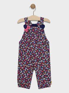 Salopette marine à imprimé fleuri bébé fille  SAEMY / 19H1BF41SAL070
