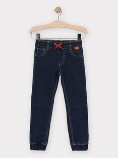 Jeans en denim stretch bleu foncé garçon  TUNITAGE 2 / 20E3PG94JEAK005