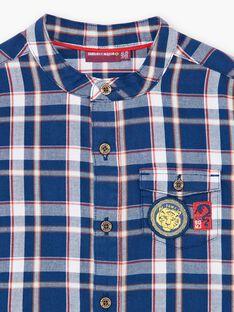 Chemise bleu à carreaux ZAGRAGE / 21E3PGI1CHM705