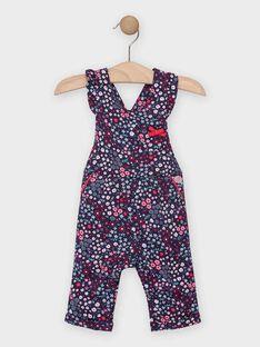 Salopette liberty bleue bébé fille TADINA / 20E1BFC1SAL070