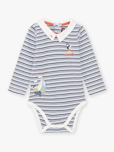 Body à rayures et motifs voilier et oiseau bébé garçon BANASH / 21H1BGL1BODC230