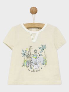 Tee shirt manches courtes écru RYBILLY / 19E1BGR1TMC001