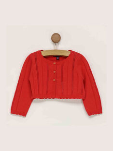 Cardigan rouge RAMARION / 19E1BFE1CAR050