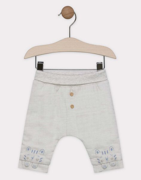 Ensemble jour tee shirt en jersey suedé et pantalon en twill bébé garçon SYANGUS / 19H0CG11ENS000