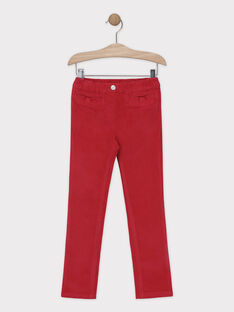 Pantalon velours rose framboise fille SAVELETTE 1 / 19H2PFH4PAN308