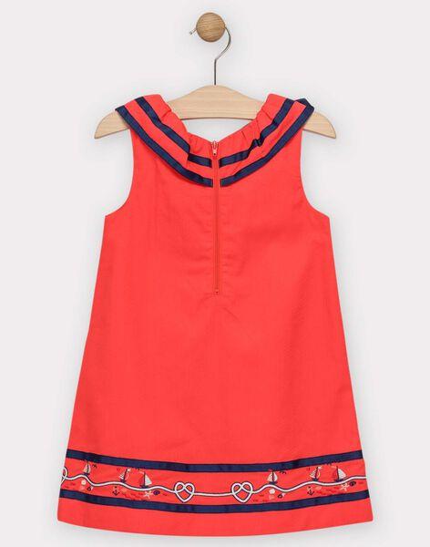Robe rouge volantée fille  TUIMIETTE / 20E2PFW1ROBF503
