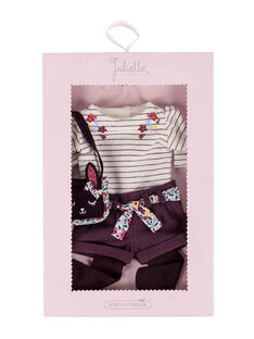 Silhouette poupée bordeaux et blanc SILLACITA / 18H4PFW2SIL001