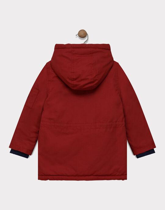 Parka à capuche rouge réversible garçon SAPARKAGE / 19H3PG71PAR503