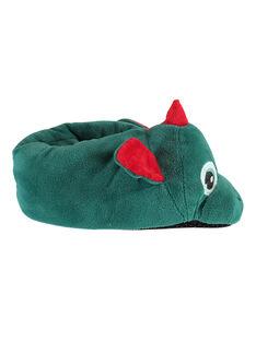 Pantoufles 3D vertes dragon enfant garçon VEDRAGAGE / 21F10PG22PTD600