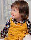 Body blouse bleu marine à imprimé fleuri bébé fille BAELISE / 21H1BF51BOD070