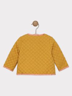 Cardigan réversible moutarde et rose bébé fille  SAGROSEILLE / 19H1BF61CAR804
