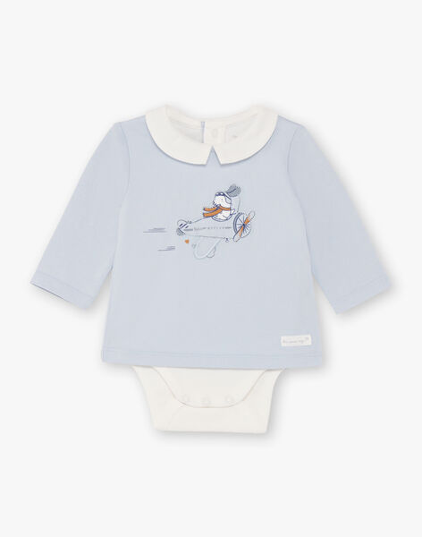 Ensemble bleu salopette et body naissance garçon  BOUBAKARI / 21H0CG41ENS070