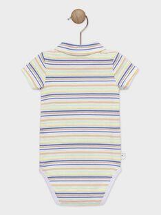 Body manches courtes à rayures colorées bébé garçon TAWALTER / 20E1BGX1BOD406
