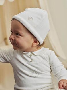 Grenouillère et bonnet en velours écru naissance mixte BOURGEOIS B / 21H0NMK2GRE001