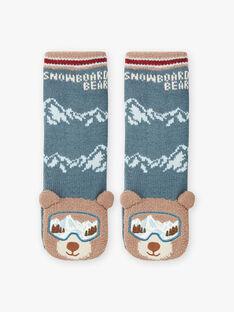 Chaussettes anti-dérapantes ours enfant garçon BORDAGE / 21H4PGO1SOAC233