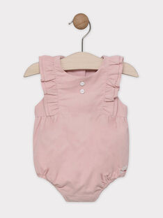 Barboteuse blush en velours milleraies bébé fille SYADELISE / 19H0CF11BARD300