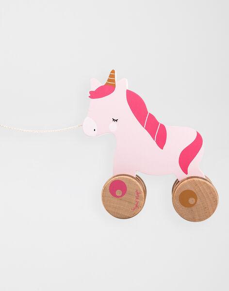 En avant la licorne : Petite licorne en bois à tirer  UNICORN PULL AL / 20J78251ANM099