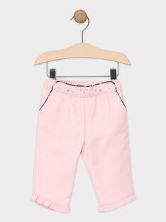 Pantalon rose bébé fille  SASANDY / 19H1BFN1PAND326