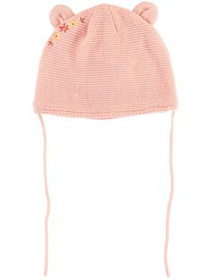 Bonnet rose point mousse bébé fille TABONNET / 20E4BFB1BON307