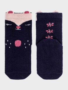 Chaussettes hautes marine bébé fille SAELANORE / 19H4BF41SOQ070