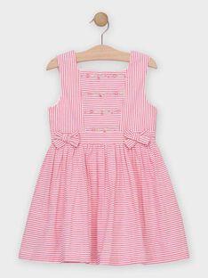 Robe rayée rose fille   TYSSOETTE / 20E2PFJ3CHSF507