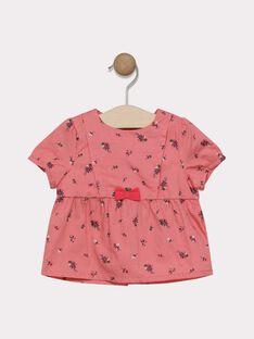 Chemisier imprimé rose bébé fille SACELINE / 19H1BF31CHE305