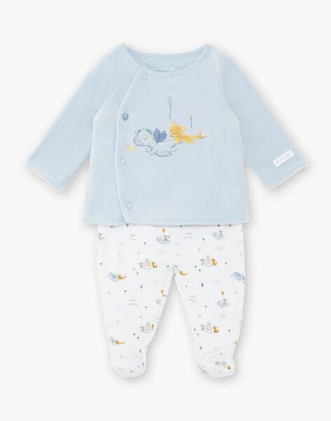Ensemble veste croisée en velours et pantalon en tubique bébé garçon ZOEL / 21E0NGG1ENS020