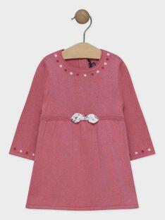 Robe en tricot rose bébé fille SANINI / 19H1BFE2ROB307