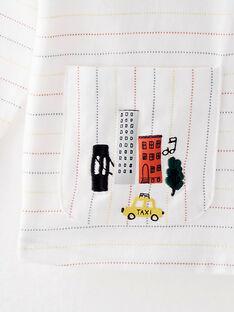 Tee-shirt manches longues blanc à rayures  VAJAZZ / 20H1BGM1TML001
