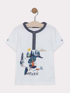 Tee-shirt manches courtes coloris écru  SALIAGE / 19H3PG21TMC001