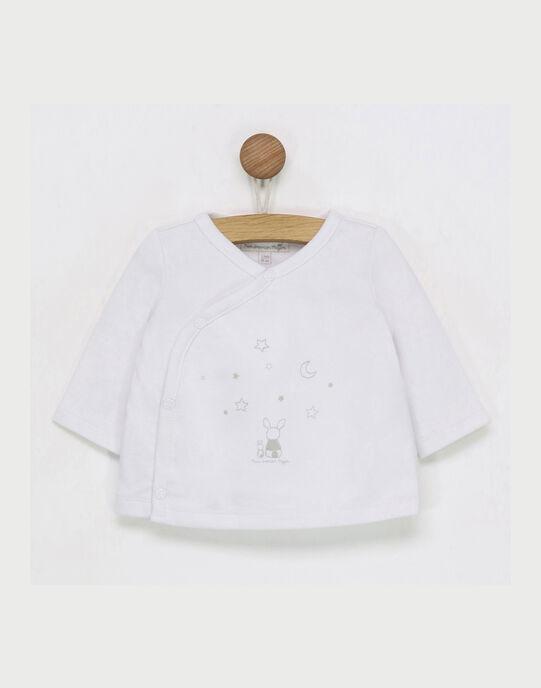 Tee shirt manches longues blanc RYABY / 19E0NM12TML001