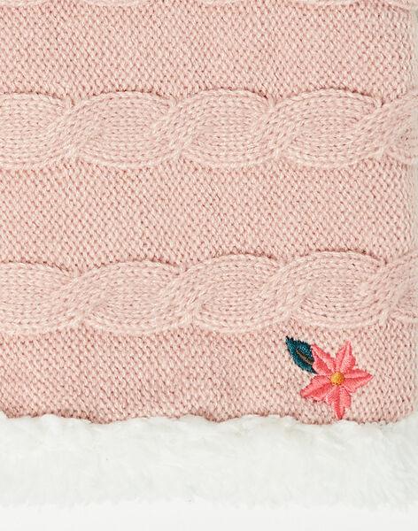 Snood rose en tricot  VEFUOETTE / 20H4PFJ1SNOD313