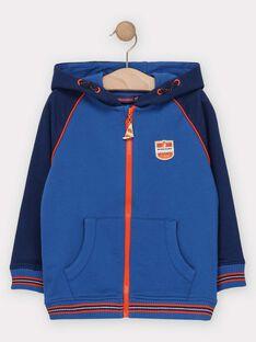 Sweat shirt à capuche bleu garçon  TUVETAGE 1 / 20E3PG92JGHC201