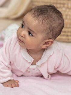 Grenouillère et gilet blanc et rose naissance fille BONITA / 21H0NF42ENS301