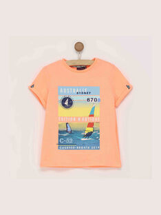 Tee shirt manches courtes orange REPIVAGE / 19E3PGD1TMCE403
