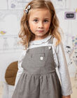 Robe salopette fluide vichy enfant fille BECHAETTE / 21H2PF21CHS090