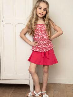 Jupe patineuse rose fuchsia enfant fille ZLUCETTE1 / 21E2PFL1JUP304