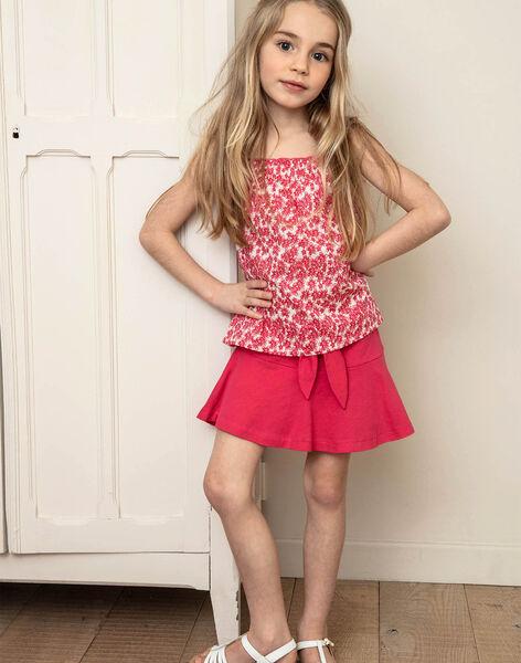 Jupe-short patineuse rose fuchsia enfant fille ZLUCETTE1 / 21E2PFL1JUP304