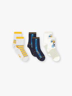 Lot de 3 paires chaussettes esprit football ZACOPAGE / 21E4PGK1LC3J924