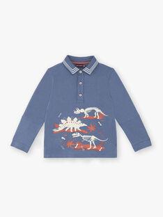 Polo bleu imprimé dinosaure ZECLOAGE / 21E3PGB1POLC230