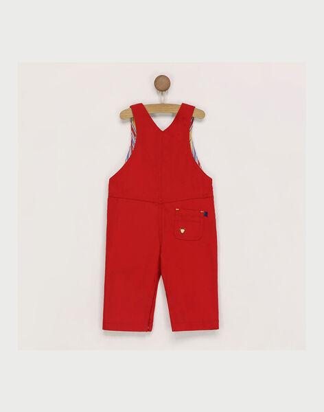 Salopette rouge broderies cirque bébé garçon RAERWAN / 19E1BGC1SAL505