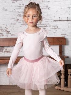 Jupe rose pâle paillettée enfant fille BROTUTETTE / 21H2PF31JUPD310