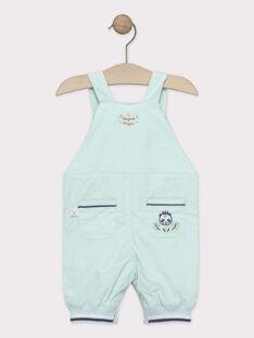 Salopette courte bébé garçon bleu turquoise  TAPIEL / 20E1BGP1SACC200
