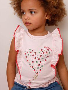 T-shirt rose imprimé fraise  ZOMIRETTE / 21E2PFJ1TMC301