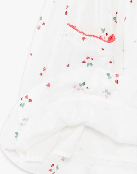 Robe écru imprimé fraise ZOLOMETTE / 21E2PFJ1CHS001