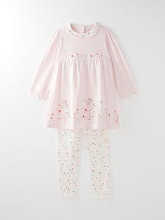 Chemise de nuit rose petite fille VEJETTE / 20H5PF21CHN309