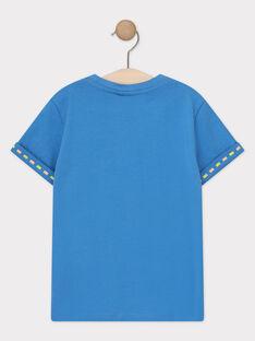T-shirt manches courtes bleu imprimé jungle enfant garçon TUMAGE / 20E3PGX1TMCC232