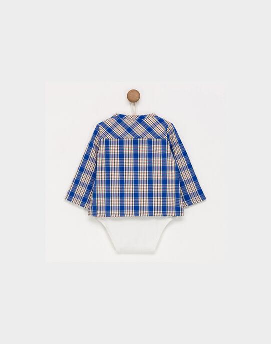 Body bleu à carreaux PAOGUZ / 18H1BGK1BOD001
