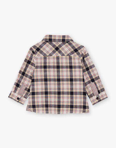 Chemise manches longues à carreaux bébé garçon BAFOU / 21H1BG51CHM070